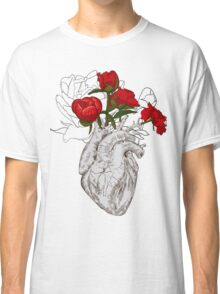 drawing Human heart with flowers Classic T-Shirt