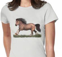 Running horse Womens Fitted T-Shirt