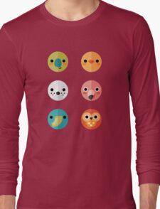 Smiley Faces - Set 3 Long Sleeve T-Shirt
