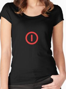 Power Off! Women's Fitted Scoop T-Shirt