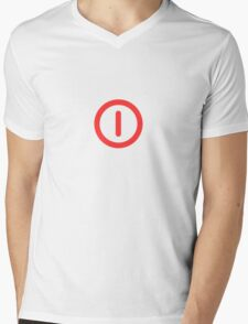 Power Off! Mens V-Neck T-Shirt