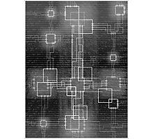 Binary Crucifixion Photographic Print