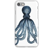 Vintage Octopus Art Print Blue ~ Kraken ~ Nautical ~ Retro ~ 0389 iPhone Case/Skin