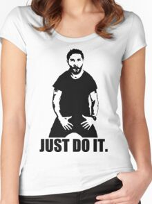 JUST DO IT!!! 3 Women's Fitted Scoop T-Shirt
