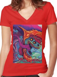 Hyper Beast | Colors Women's Fitted V-Neck T-Shirt