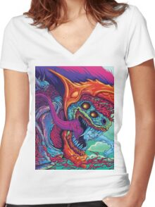 Hyper Beast | Colors Women's Fitted V-Neck T-Shirt