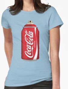 Coca Cola spray can Womens Fitted T-Shirt