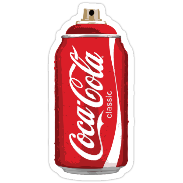 Coca Cola spray can by . .