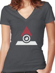 Illuminati Pokemon Women's Fitted V-Neck T-Shirt