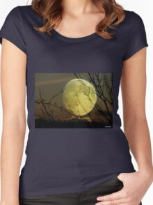 By Moonlight..... Women's Fitted Scoop T-Shirt