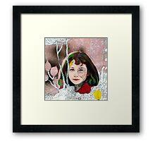 portrait of Gracie::no.3 Framed Print