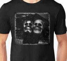 Bride and Groom Skulls Enhanced Unisex T-Shirt
