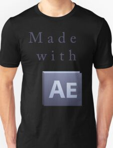 Made with After Effects Front Unisex T-Shirt