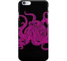Vintage Octopus Art Print Engraved Magenta ~ Kraken ~ Nautical ~ Retro ~ 0398 iPhone Case/Skin