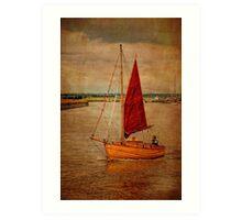 Old sailing boat Art Print