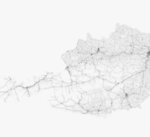 Roads of Austria. (Black on white) by Graphical-Maps