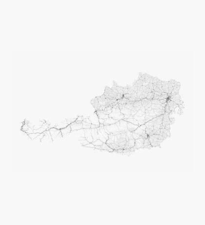 Roads of Austria. (Black on white) Photographic Print