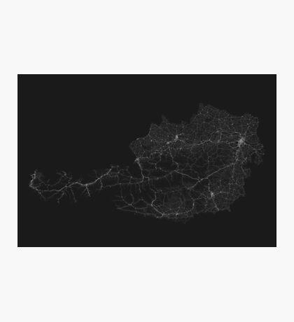 Roads of Austria. (White on black) Photographic Print