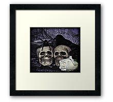 Bride and Groom Skulls Framed Print