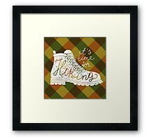 it's time for hiking Framed Print