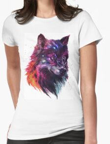 Howl of the Stars Womens Fitted T-Shirt