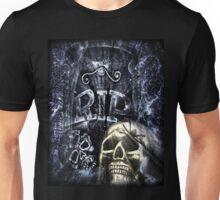 Grave Marker and Skull Unisex T-Shirt