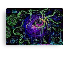Trippy acid eye Canvas Print