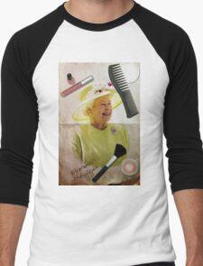 Portrait of Queen Elizabeth II Men's Baseball ¾ T-Shirt