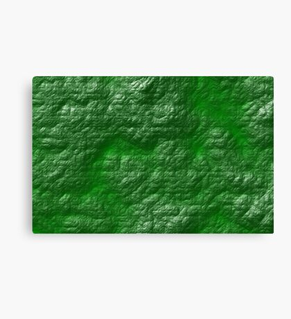 A Crumpled Green design for everything Canvas Print