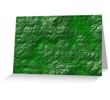 A Crumpled Green design for everything Greeting Card