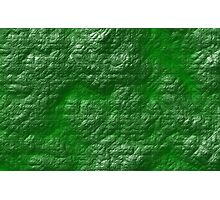 A Crumpled Green design for everything Photographic Print