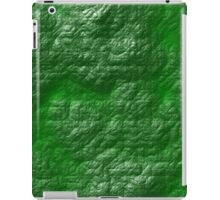 A Crumpled Green design for everything iPad Case/Skin
