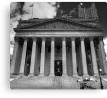 Black and White Justice - New York Supreme Court of Justice, New York Canvas Print