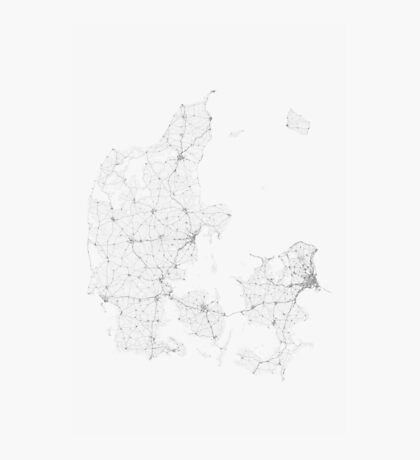 Roads of Denmark. (Black on white) Photographic Print