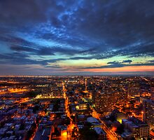A City Ablaze - Jersey City, New Jersey by Ben Prewett