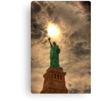 Torch Of Liberty - Staue of Liberty, New York Canvas Print
