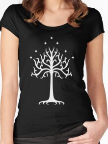 Lord of the Rings - White Tree of Gondor Women's Fitted Scoop T-Shirt