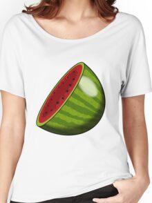 Cartoon Watermelon half Women's Relaxed Fit T-Shirt