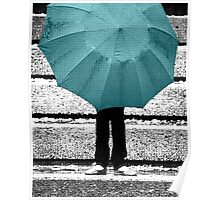Tiffany Blue Umbrella Poster