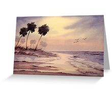 Sunset Beach Tarpon Springs Florida Greeting Card