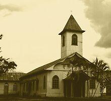 Church in Piedras Negras BW by Guy C. André Tschiderer