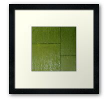 Rainy wall. III Framed Print