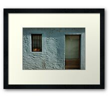 turquoise facade Framed Print