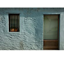 turquoise facade Photographic Print