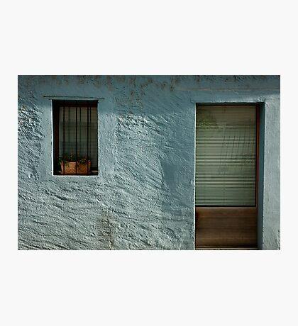 turquoise facade Photographic Print