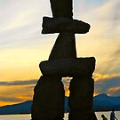 The Inukshuk at Sunset  by RichImage