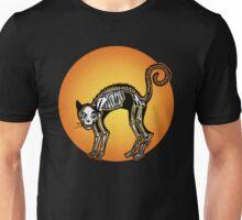 Halloween Cat Skeleton silhouette Unisex T-Shirt