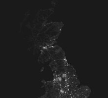 Roads of Great Britain. (White on black) by Graphical-Maps