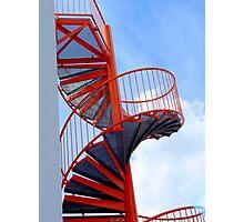The orange spiral stair 2 Photographic Print