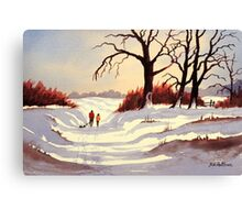 Let's Go Sledding Canvas Print